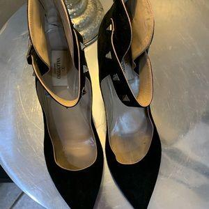 VALENTINO black suede heels